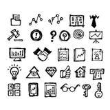 Financial icon  doodle hand drawn. Sketch illustration of financial icon,  doodle hand drawn Stock Photos