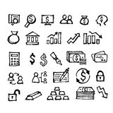 Financial icon  doodle hand drawn. Sketch illustration of financial icon,  doodle hand drawn Stock Photo
