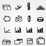 Financial icon. Icons set Stock Photo
