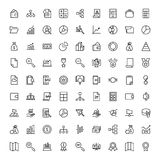 Financial icon set. Collection of high quality black outline logo for web site design and mobile apps. Vector illustration on a white background Royalty Free Stock Image