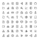 Financial icon set. Collection of high quality black outline logo for web site design and mobile apps. Vector illustration on a white background Royalty Free Stock Photos