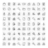 Financial icon set. Collection of high quality black outline logo for web site design and mobile apps. Vector illustration on a white background Royalty Free Stock Images