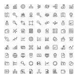 Financial icon set. Collection of high quality black outline logo for web site design and mobile apps. Vector illustration on a white background Stock Image