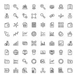 Financial icon set. Collection of high quality black outline logo for web site design and mobile apps. Vector illustration on a white background Royalty Free Stock Photo