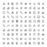 Financial icon set. Collection of high quality black outline logo for web site design and mobile apps. Vector illustration on a white background Stock Images