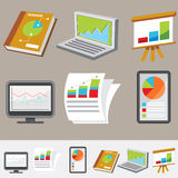 Financial Icon Set Stock Photography