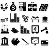 Financial icon set. Twenty items. Vector illustration Royalty Free Stock Photography