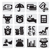 Financial icons royalty free illustration