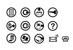Financial Icons. Icons targets for financial industries Stock Photo