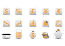 Financial icons Stock Images