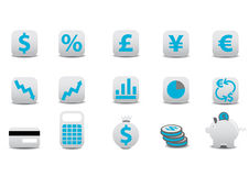 Financial icons. Vector illustration of financial icons. You can use it for your website, application, or presentation Royalty Free Stock Photo