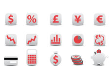 Financial icons Royalty Free Stock Image