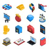 Financial Icons Isometric Stock Images