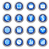 Financial icons set royalty free stock photos
