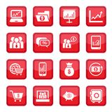 Financial icons set Stock Photo