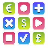 Financial icons set great for any use, Vector EPS10. Stock Photography