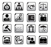 Financial icons set. Isolated on white Stock Photography