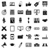 Financial icons set, simle style. Financial icons set. Simple style of 36 financial vector icons for web isolated on white background Stock Images