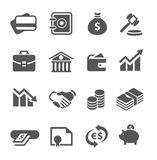 Financial icons set. Royalty Free Stock Images