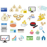 Financial icons for web design. Enjoy Royalty Free Stock Image