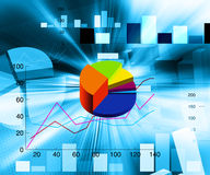 Financial illustration. An abstract financial chart illustration Stock Photo