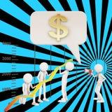 Financial improvement graph arrow teamwork Royalty Free Stock Photos