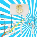 Financial improvement graph arrow teamwork Stock Images