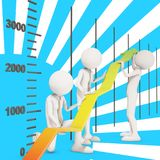 Financial improvement graph arrow teamwork Royalty Free Stock Photography