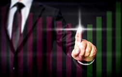 Financial Improvement After Magic Touch Of Businessman Royalty Free Stock Images