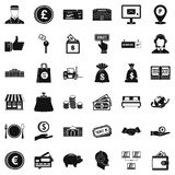 Financial incentives icons set, simple style. Financial incentives icons set. Simple set of 36 financial incentives vector icons for web isolated on white Royalty Free Stock Image
