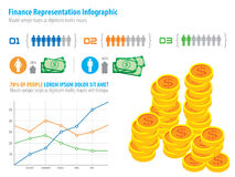 Financial infographic representation Royalty Free Stock Photography