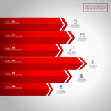 Financial infographic template design. With statistic element Royalty Free Stock Images