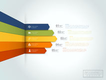 Financial infographic template design. With statistic element Stock Image