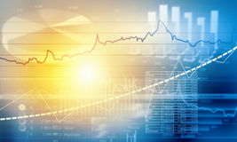 Financial infographics Stock Photos