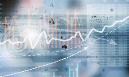 Financial infographics Stock Image