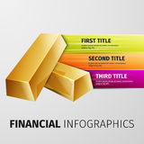 Financial infographics Stock Images