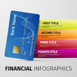 Financial infographics. Illustration Credit Card Icon Isolated on white Stock Image