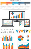 Financial Infographics. Financial Infographic set with charts and other elements Stock Photo
