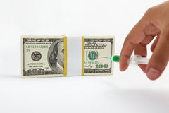 Financial injection Royalty Free Stock Photos