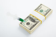 Financial injection Royalty Free Stock Images