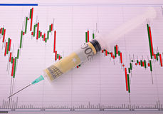Financial injection Stock Images