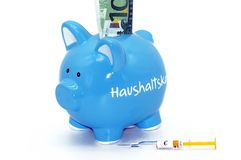 Financial injection for the piggy bank royalty free stock photography