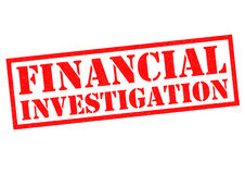 FINANCIAL INVESTIGATION. Red Rubber Stamp over a white background Stock Photo