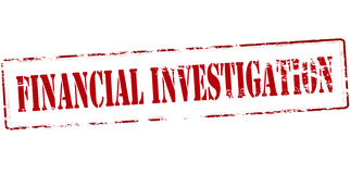 Financial investigation. Rubber stamp with text financial investigation inside,  illustration Stock Photo