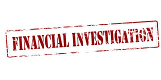 Financial investigation. Rubber stamp with text financial investigation inside,  illustration Stock Image