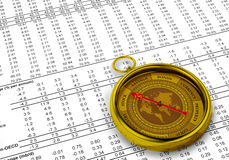 Financial Investment Compass Stock Photos