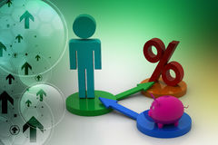 Financial investment concept. In color background Royalty Free Stock Image
