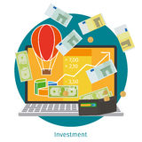Financial investment concept. Financial investment. Financial education and online investment concept Stock Photography