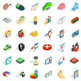Financial investment icons set, isometric style. Financial investment icons set. Isometric set of 36 financial investment vector icons for web isolated on white Stock Photo