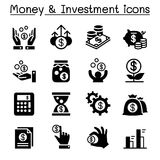 Financial Investment icons set. Vector illustration Graphic design Royalty Free Stock Photography